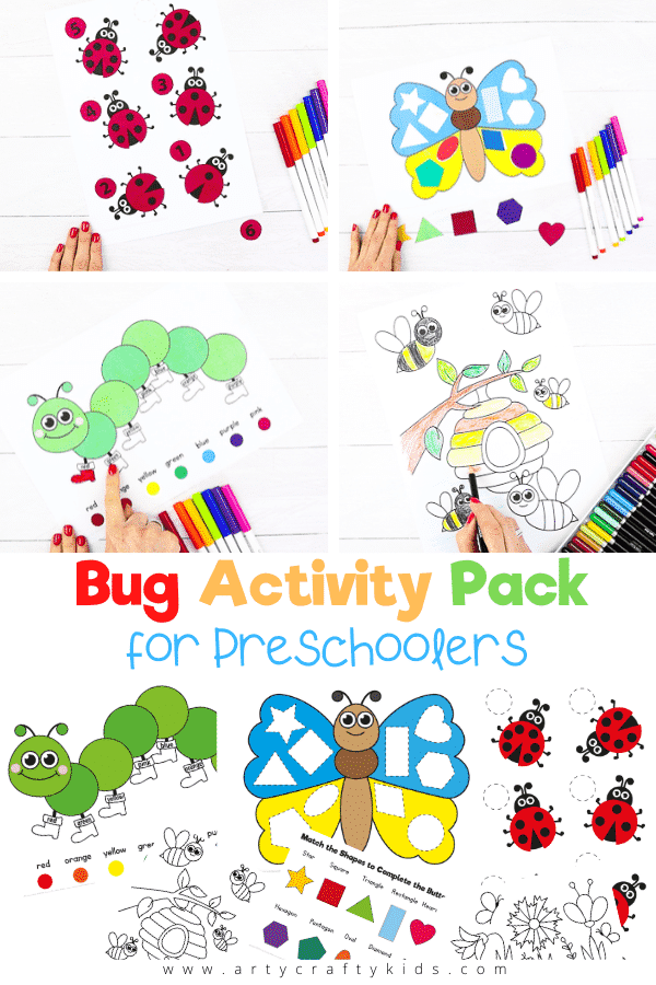 Our Bug themed worksheets have been designed to help preschoolers explore numbers, shapes and colors. These interactive exercises and games are a great way to encourage active learning!