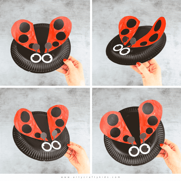 Paper Plate Lady bug Craft for Kids