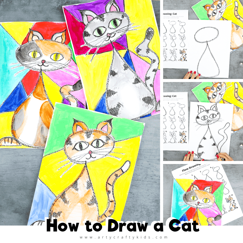 Flow Drawing: How to Draw a Cat