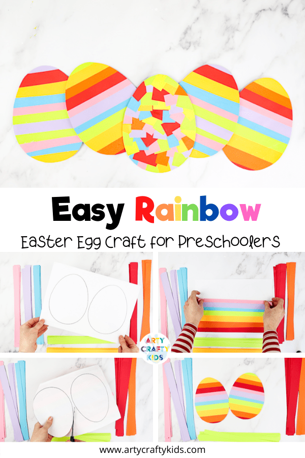 This easy rainbow Easter egg craft is perfect for keeping toddlers and preschoolers busy this Easter. Download the free Easter egg template to get started.