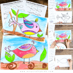 Flow Drawing for Kids: How to Draw a Bird