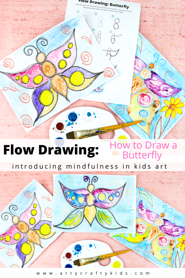 Flow drawing helps children to understand shapes and create illustrations, in a much freer way. It's the perfect alternative to traditional 'how to draw' guides - by removing restrictions, flow drawing encourages children to fully engage in the moment and discover their natural flow, bringing mindfulness to the creative process.