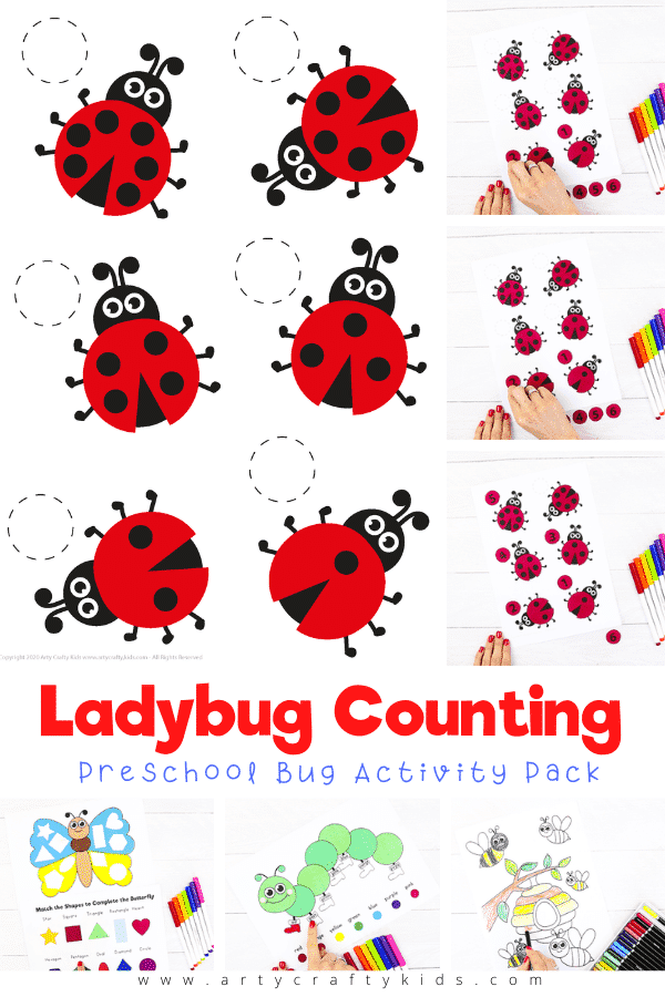 Our ladybug counting activity is a great visual guide to numbers, helping with number recognition and ordering, as well as with attention to detail and following instructions - children can't count in any direction, they have to match the number on the counters to the number of dots on each ladybug.