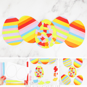 Easy Rainbow Easter Egg Craft for Toddlers and Preschoolers
