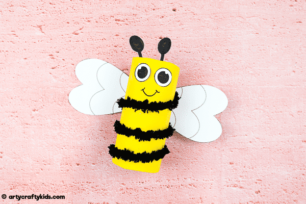 Toilet Paper Roll Bee Craft - Easy Kids Craft