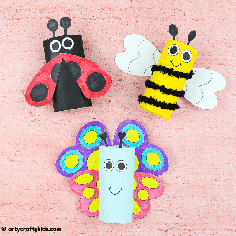 Toilet Paper Roll Bug Crafts for Kids