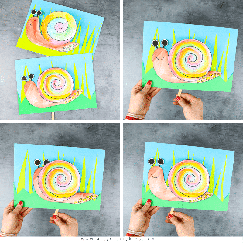 Peek-a-boo Snail Craft for Kids