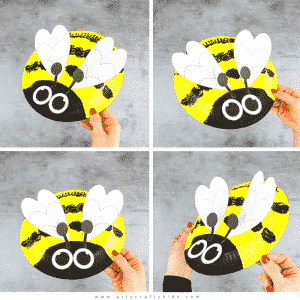 Paper Plate Bee Craft for Kids