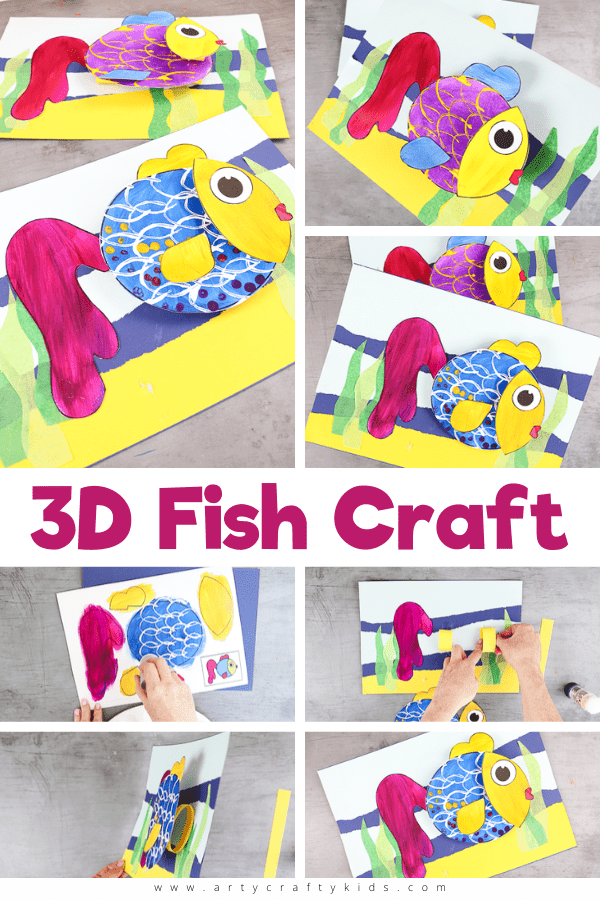 Explore color, texture and shape with this fun and easy 3D Paper Fish Craft for kids.