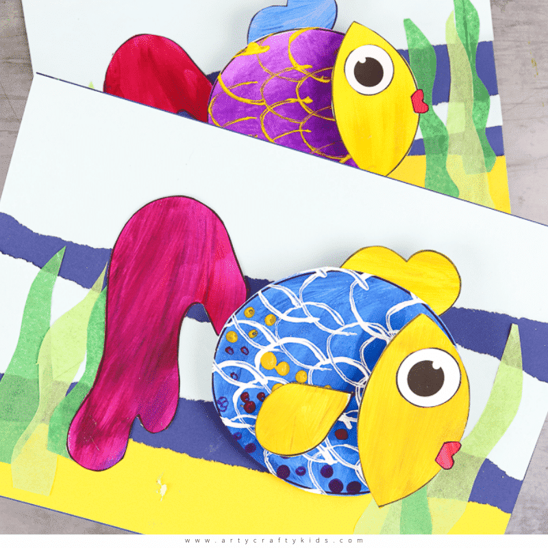 3D Fish Craft for Kids
