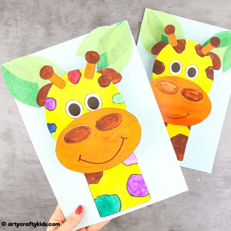 3D Giraffe Craft for Kids