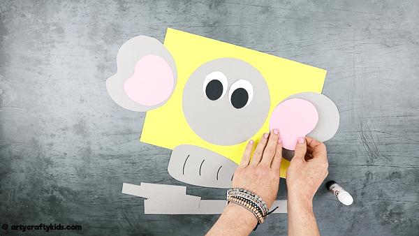 Assemble the cut out elephant shapes.