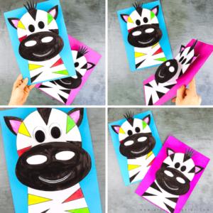 3D Paper Zebra Craft for Kids
