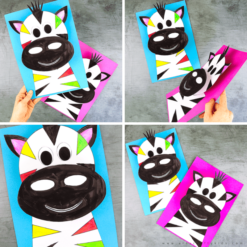 3D Paper Zebra Craft for Kids