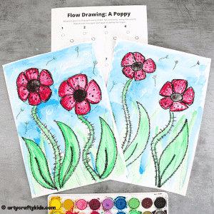 Flow Drawing: How to Draw a Poppy