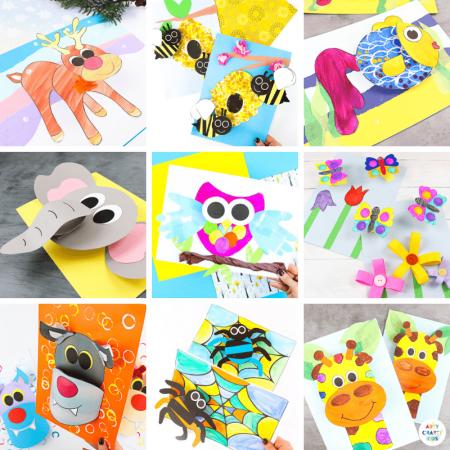 25 + 3D Paper Crafts for Kids