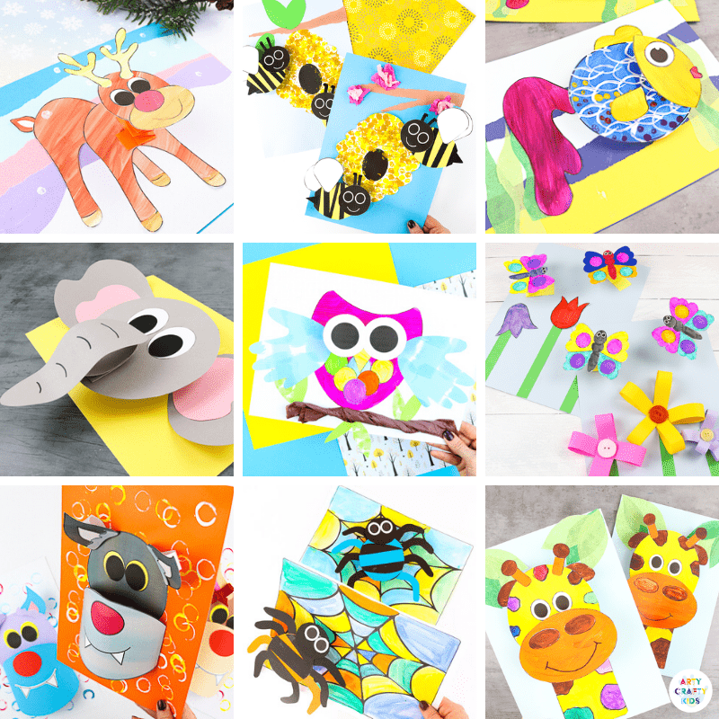 25 + 3D Paper Crafts for Kids