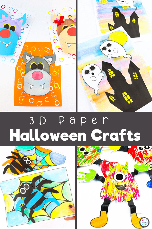 3D Paper Halloween Crafts for Kids. Explore our collection of fun and interactive 3D Paper Crafts for kids; featuring paper crafts From Spring to Halloween to Christmas; from land animals to sea animals to bugs, we have a 3D paper craft to keep your children busy all year round.