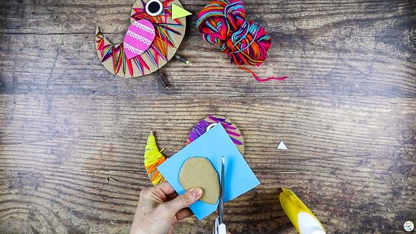 Create a cardboard wing.