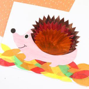 3D Hedgehog Craft for Kids