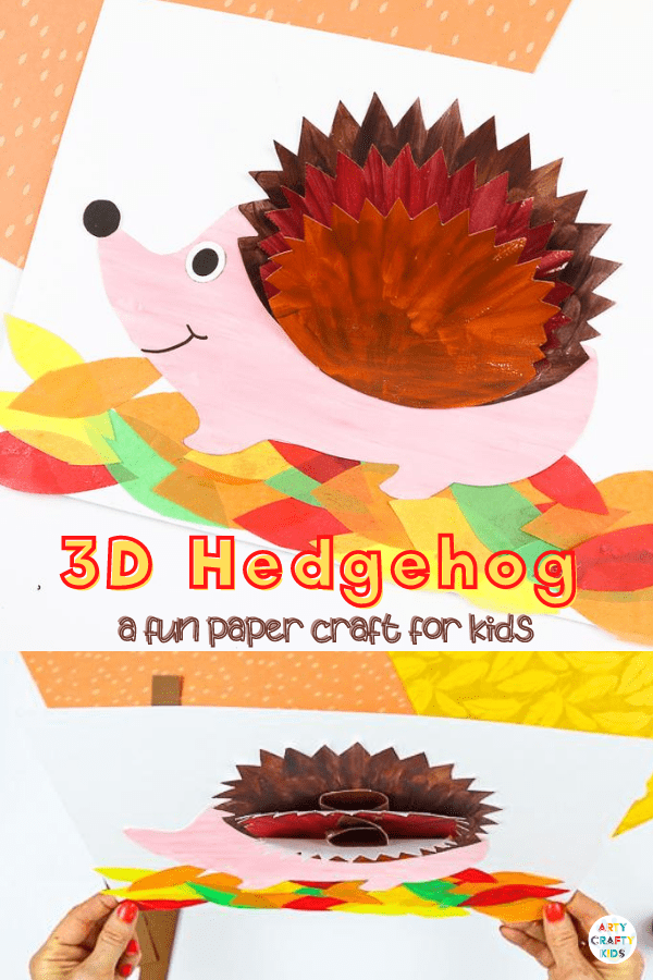 Kickstart the Autumn term with this adorable 3D Paper Hedgehog Craft. Our latest hedgehog craft joins a growing collection of 3D paper crafts; all designed to combine the creativity of craft, the interest of perspective and the fun of movement that capture the imaginations of younger and older children alike.