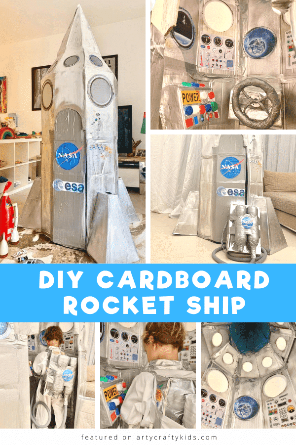 DIY Cardboard Space Ship for Kids: How to turn cardboard boxes into an awesome Cardboard Space Ship that will inspire play, curiosity and imaginations! A brilliant cardboard creation for kids.