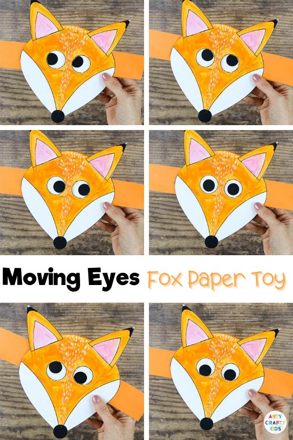 Moving Eye Fox Craft Arty Crafty Kids