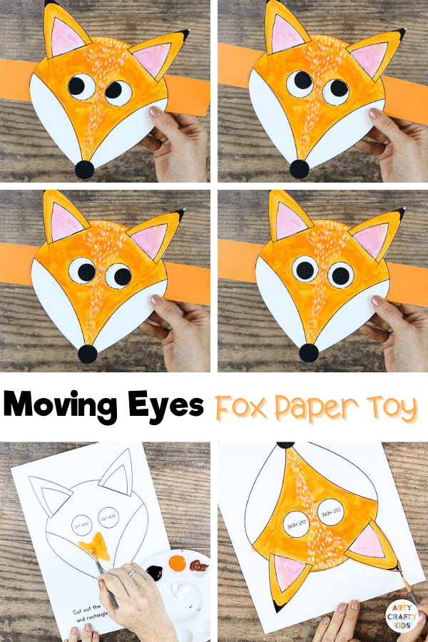 Moving Eye Fox Craft: It's nearly Autumn term (where has the time gone?!) and it brings with it some lovely school topics for children. Changing seasons, forest animals - the colors and textures are great for art and crafts. And this cute, interactive moving eye fox craft is sure to complement any Autumn topic for pre-schoolers and early years.