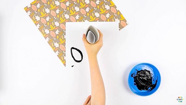 Begin creating leaf prints around the traced handprint.