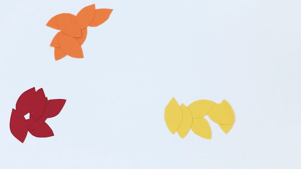 Cut out Paper Leaf Shapes