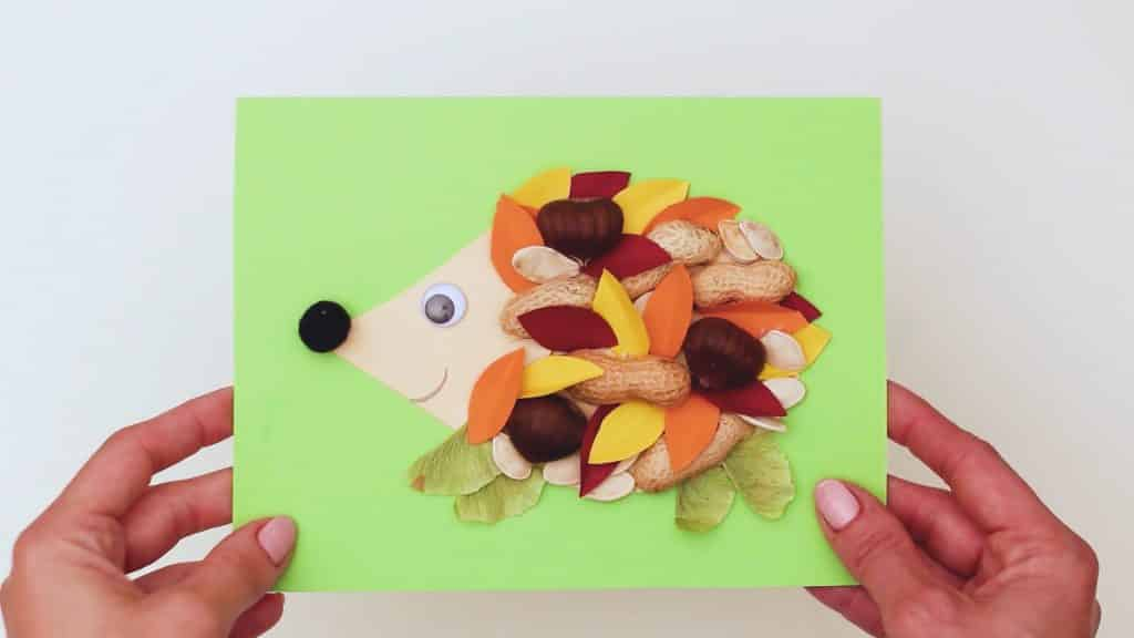 Natures changing colors and textures always inspire our creativity. So if you're looking for a lovely, easy fall craft to help little ones welcome the changing season, this nature hedgehog craft is for you.