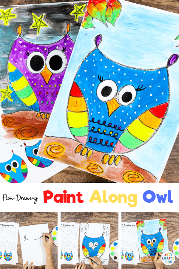 How to Draw an Owl: A fun and simple drawing guide for children.   When we give children Autumnal activities, sometimes it's easy to get caught up in the typical colors of changing leaves and not give them enough space to flex their creativity.