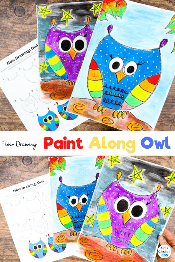 Our latest how to draw an owl guide is a real hoot and such a cutie! We're taking the humble owl and supercharging the owl design, with colour, pattern and imagination! This easy to draw an owl, step by step tutorial is designed for Kids and beginners who are keen to learn the basics of learning to draw cute owls with personality. With just a few simple lines, the owl shape can be drawn in just two strokes of the pencil/crayon, making this a really easy owl for kids to draw.