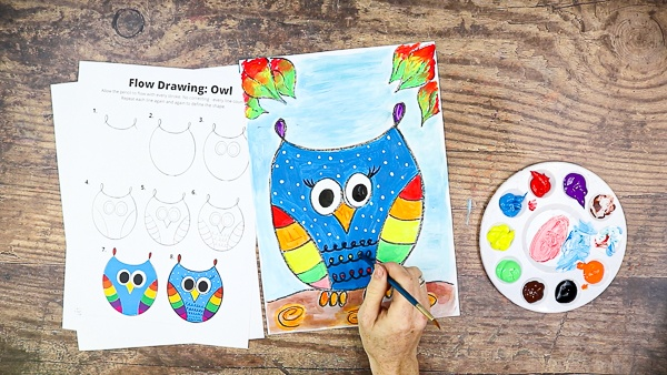 Decorate the owl and make it your own.