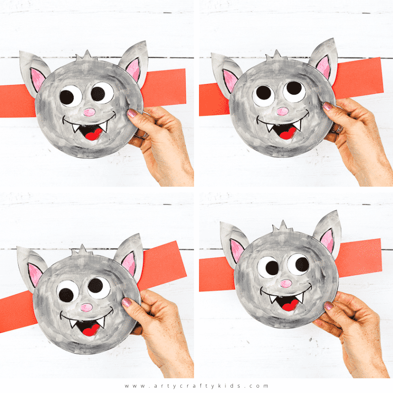 Moving Eyes Vat Craft - A fun Halloween Paper Toy Craft for Kids