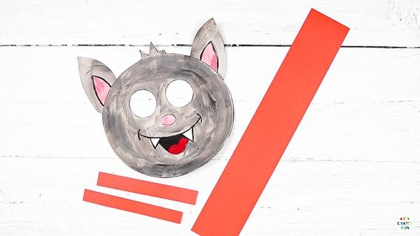 Moving Eyes Paper Bat Craft