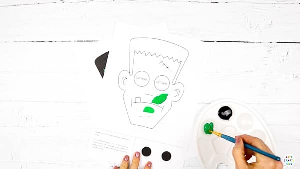 Decorate the Frankenstein Moving Eyes Template.