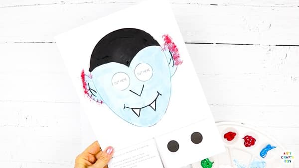 Moving Eyes Vampire Craft: A great addition to any Halloween craft session, this easy paper craft helps to strengthen little ones' fine motor skills and encourage creativity, alongside providing a big dollop of fun.