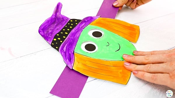 Moving Eyes Witch Craft: This simple paper craft is a really fun and interactive activity for pre-schoolers and school early years, but kids of all ages will love making silly faces just like the witch.