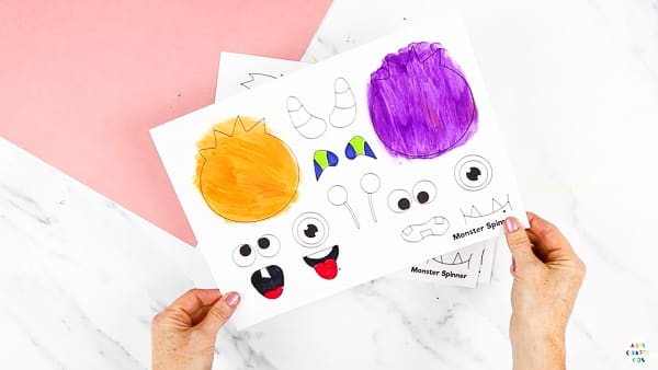 Printable Monster Spinner Craft: Download the printable monster template from our Arty Crafty Kids members area.