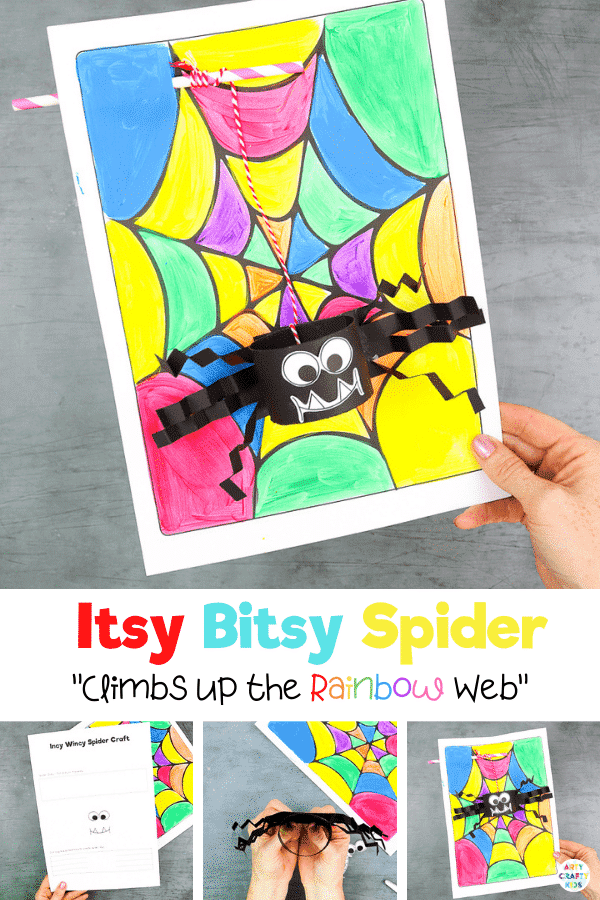 Kids will delight at how Itsy Bitsy Spider climbs up the spider web; making this a fun and interactive craft that encourages play.