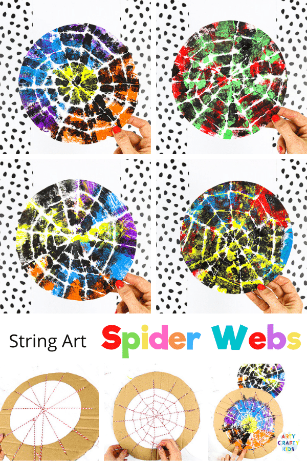 If you're looking for an easy but expressive craft, inspired by nature, our string Halloween spider web art is perfect for your children.   Create colorful Halloween decorations or work into bug learning topics; preschoolers and children in early years can use the activity to strengthen fine motor skills and explore color, patterns and artistic expression.