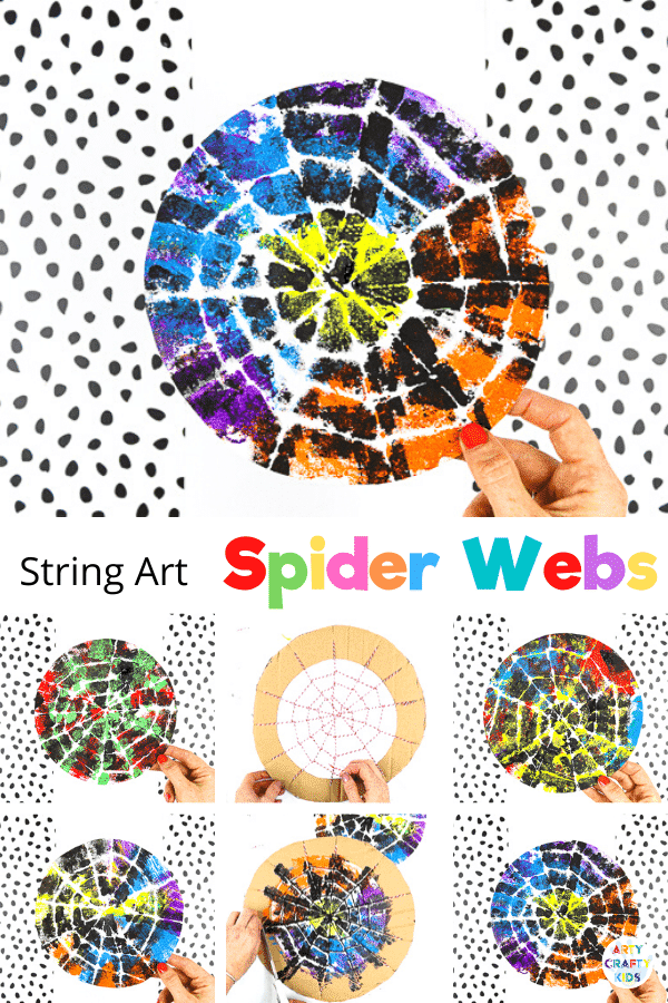 If you're looking for an easy but expressive craft, inspired by nature, our string spider web art is perfect for your children.   Create colorful Halloween decorations or work into bug learning topics; preschoolers and children in early years can use the activity to strengthen fine motor skills and explore color, patterns and artistic expression.