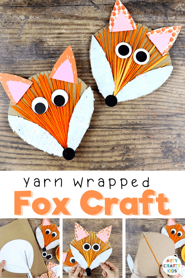 Yarn Wrapped Fox Craft: A fun and simple interactive Autumn craft for kids; Incorporating drawing, cutting, painting, gluing and threading, it's a wonderful refresher for those all important fine motor skills. The engaging and tactile craft can be used to support school learning topics.