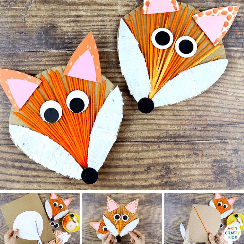 Yarn Wrapped Fox Craft Arty Crafty Kids