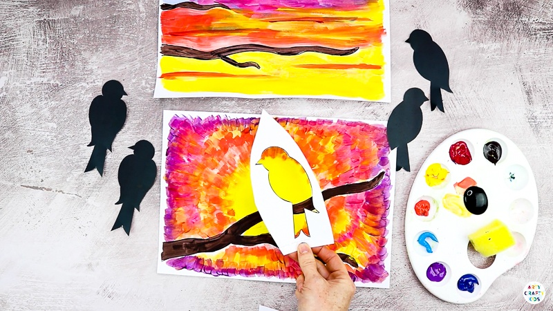 Use out bird templates to create a stencil.