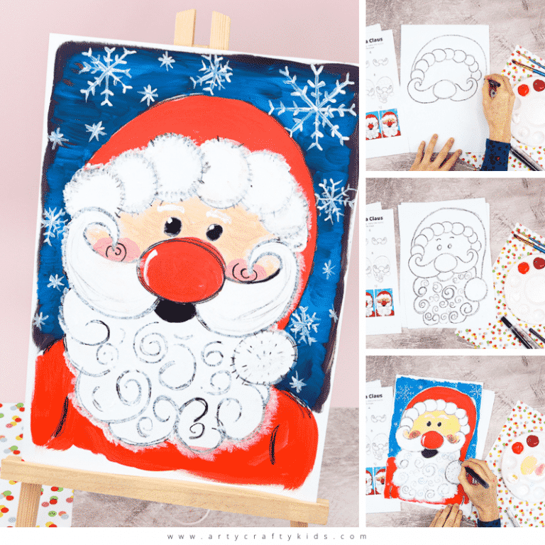 Learn how to draw Santa with our easy to follow step-by-step 'How to Draw Santa Claus' tutorial. Our flow drawing technique makes drawing Santa super easy for kids and beginners. We encourage the use of simple lines and shapes that naturally flow through repetition.
