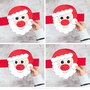 Moving Eyes Santa Craft for Kids to Make