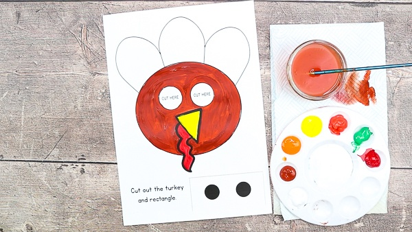 Download and decorate the Thanksgiving Turkey Template.