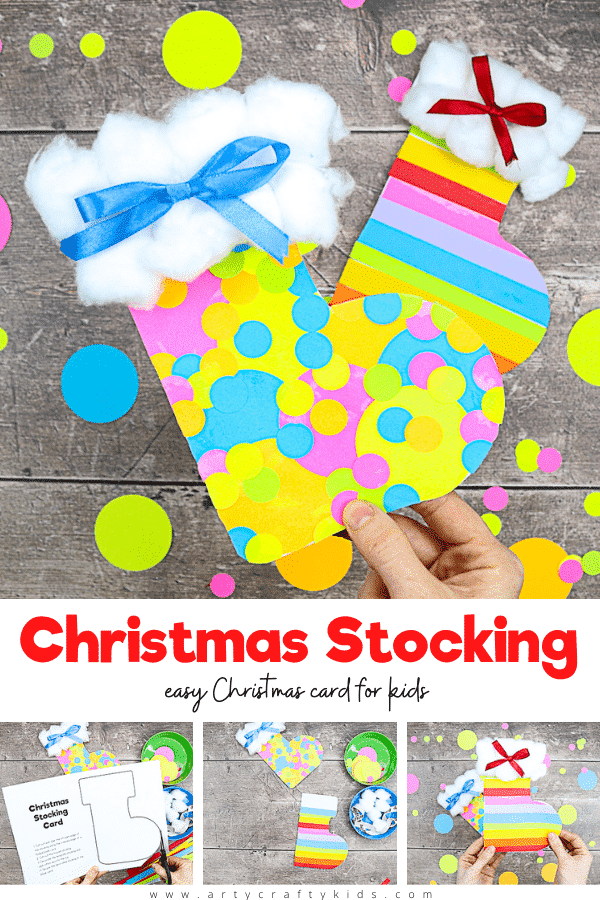 his cute Christmas stocking card is perfect for pre-schoolers and school early years to make at home or in the classroom for friends and family. The pre-drawn template means there's only some basic cutting required, before the kids can really enjoy themselves getting stuck in with the decorating.